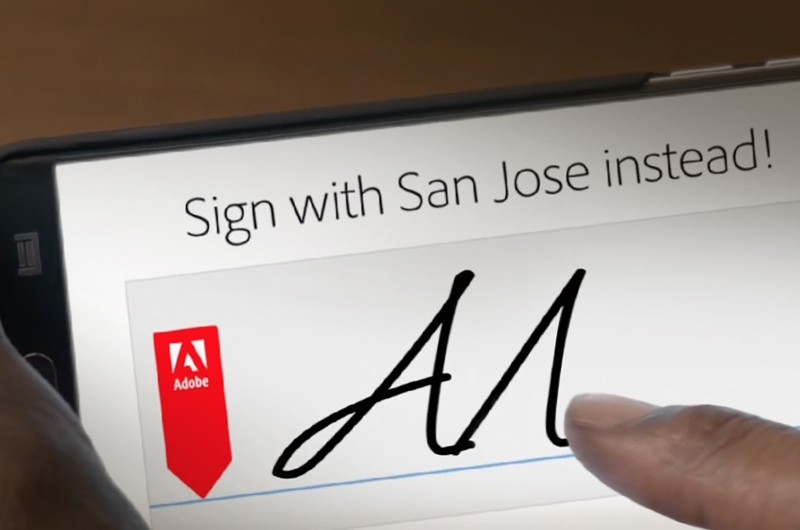 Adobe sign signature on smart phone